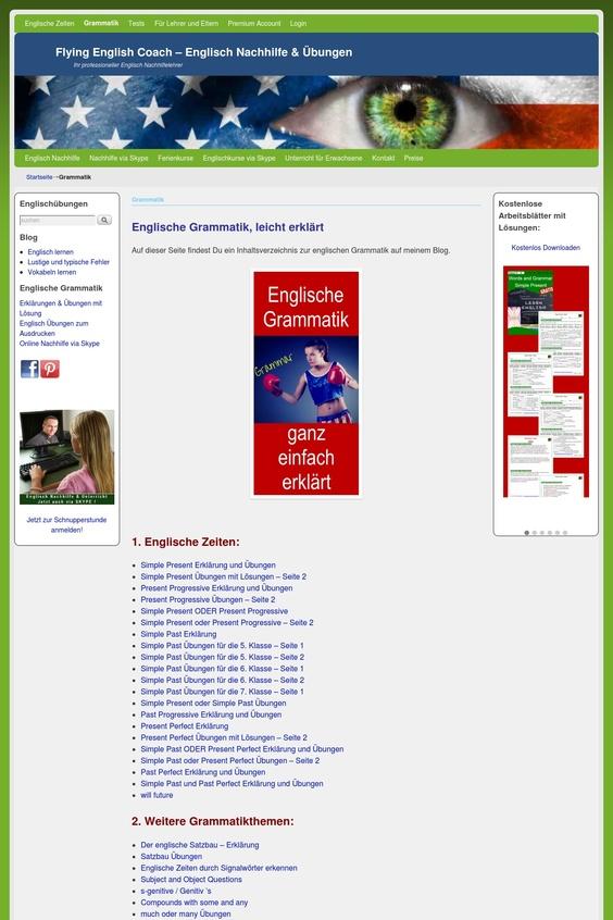 Top 5 Info-Seiten zur englischen Grammatik im Englischen | Gramomat -